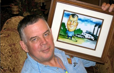 retirement caricature example