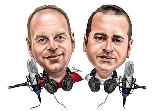 Head & shoulders caricature radio Gift (136K)