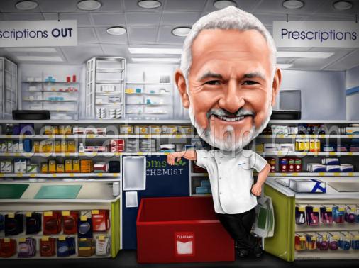 Chemist, Pharmacist, drug store owner, gift, boss gift