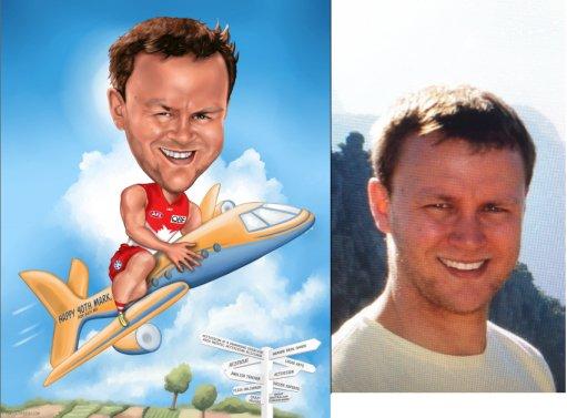 pilot gift caricatureart