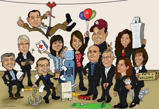 office-work-team-group-cartoon-art