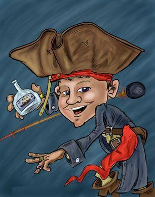 Pirate-caricature-like-Captain Jack Sparrow