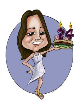 24th birthday girl cartoon