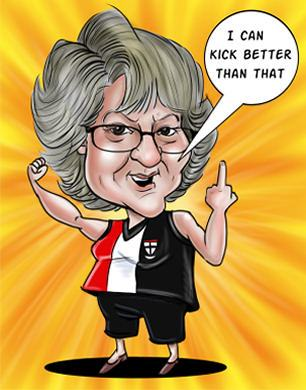 team sports supporter caricature