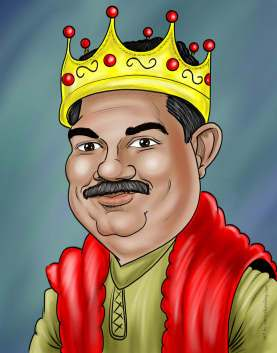 caricature of a man in a crown