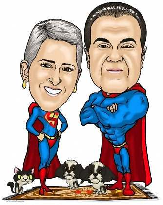 husband and wife super heros