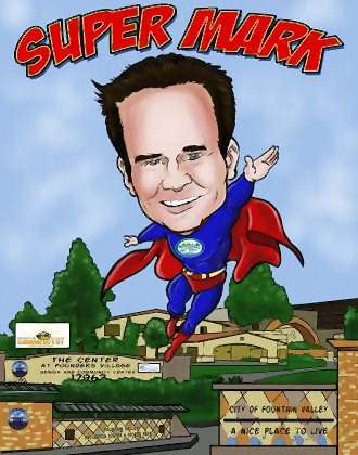 super mark retirement art gift cartoon