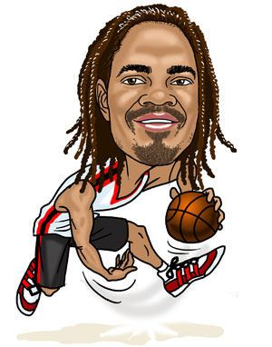 basketballer caricature gift (38K)