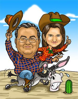 cowboy-couple-fun gift