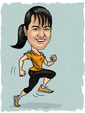 caricature of runner gift
