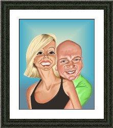 framed valentines caricature