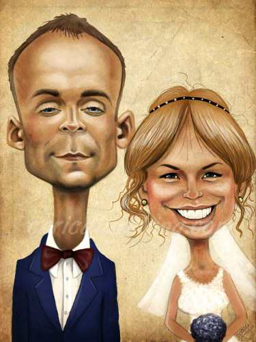 wedding art caricature gift