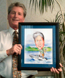 boating caricature