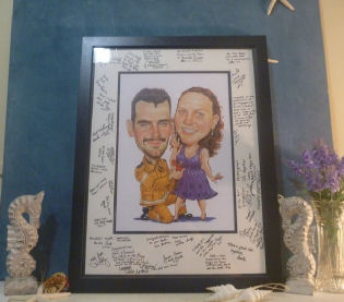 wedding register art for happy memories