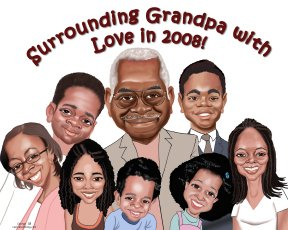 family-caricature-memento