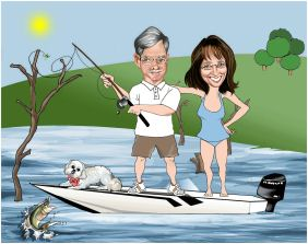 fishing couple gift