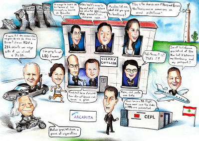 work group caricature