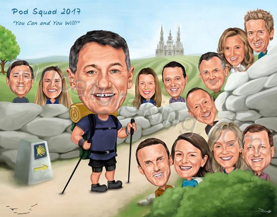 fun-work-group-caricature-gift