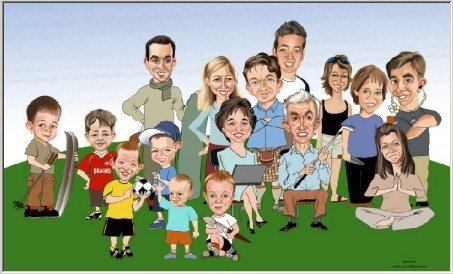 Family Reunion memento art drawing