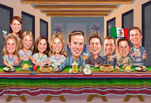 last supper caricature (55K)