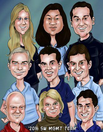 management-team-caricature