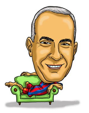 sports stupporter caricature