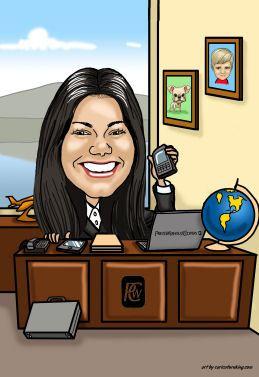 office worker gift art
