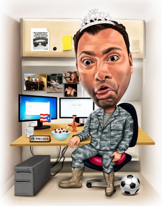 air force gift caricature