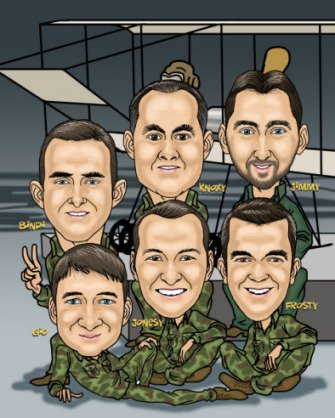 army aviation training team memento caricature (91K)