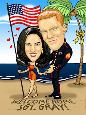 marine in love