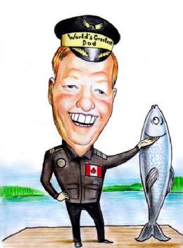 worlds greatest dad fisherman caricature