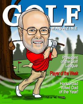 golf magazine caricature (33K)