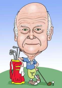 old Golfer carttoon art)