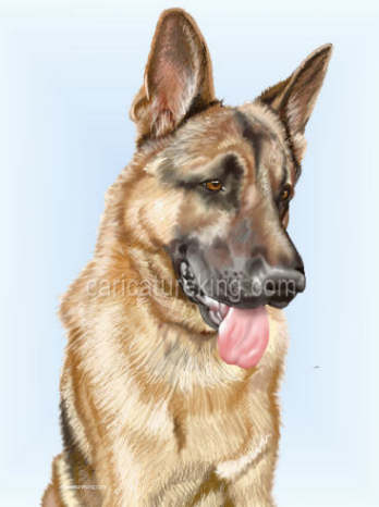 german shepperd dog art
