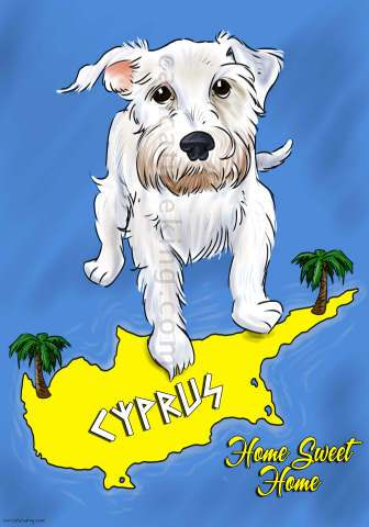 dog on map charicature