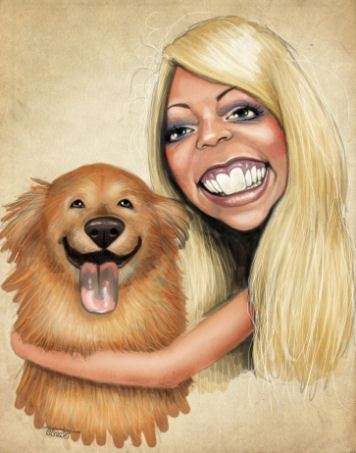 girlanddogcaricature