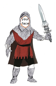 medieval knight caricature