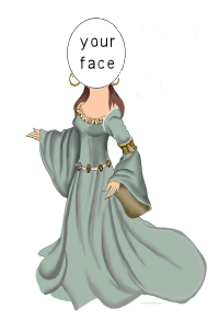medieval lady caricature