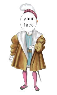caricature of medieval nobleman