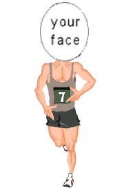 runner caricature