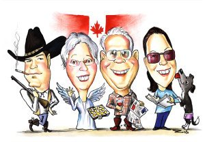 canadian-family-caricaturfe-picture