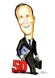 birthday 50th caricature